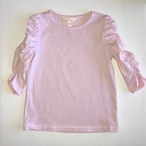 Matilda Jane Girls Top. Size 6 GUC. Light Pink